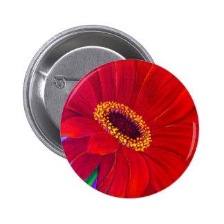 Red Daisy Gerber Flower Painting Art - Multi Pin