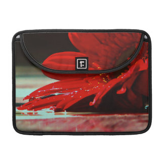 Red Daisy Gerbera Flower MacBook Pro Sleeve