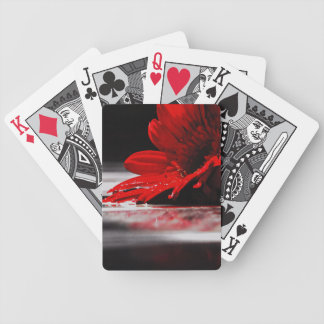 Red Daisy Gerbera Flowers Bicycle Playing Cards