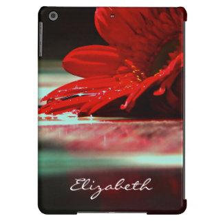 Red Daisy Gerbera Flowers iPad Air Cover