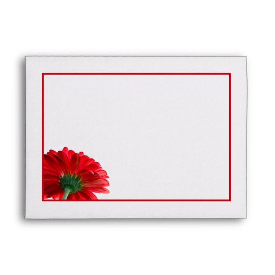 Red Daisy Invitation Envelope