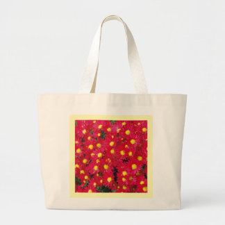 RED DAISY MUMS Eco-Friendly Grocery Tote