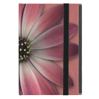 Red Daisy on Coral Leather Print Case For iPad Mini