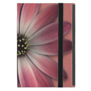 Red Daisy on Coral Leather Print iPad Mini Cover (<em>$54.95</em>)