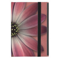 Red Daisy on Coral Leather Print iPad Mini Covers (<em>$54.95</em>)