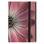 Red Daisy on Coral Leather Texture iPad Mini Covers