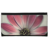 Red Daisy on Stone Leather Print Wallets (<em>$62.95</em>)