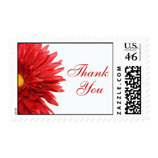 Red Daisy Thank You Stamps