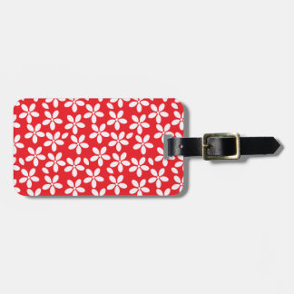Red Daisy Travel Bag Tag Template