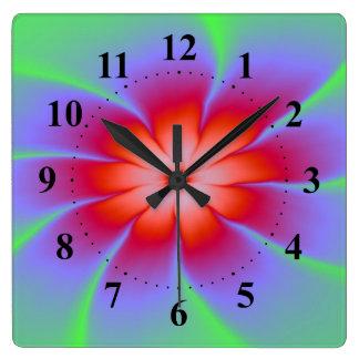 Red Daisy Wall Clock