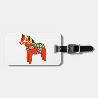 Red Dala Horse Bag Tag