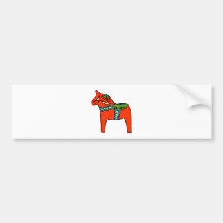 Red Dala Horse Bumper Sticker