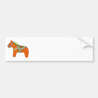 Red Dala Horse Bumper Sticker