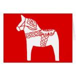 Red Dala Horse Card