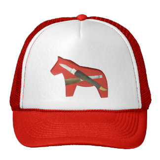Red Dala Horse Carver's Hat