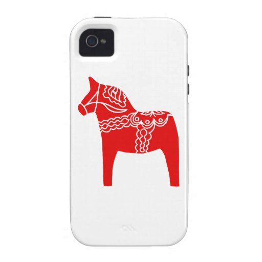 Red Dala Horse iPhone 4/4S Cover