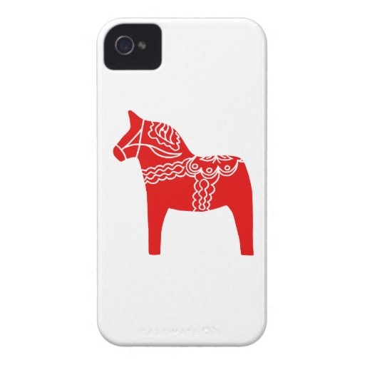 Red Dala Horse iPhone 4 Case-Mate Case