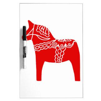 Red Dala Horse Dry Erase Board