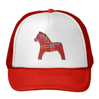Red Dala Horse Hat