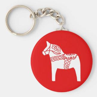Red Dala Horse Keychain