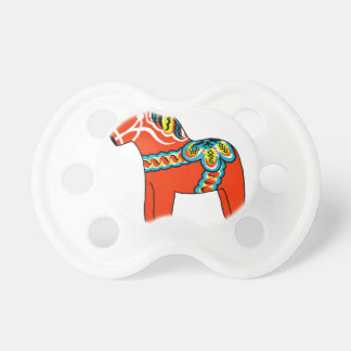 Red Dala Horse Pacifiers