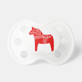Red Dala Horse Baby Pacifiers