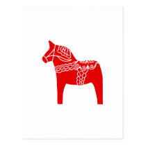 Red Dala Horse Postcard