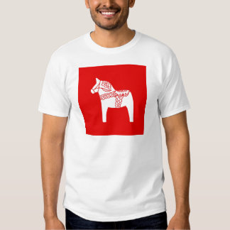 Red Dala Horse Tee Shirt