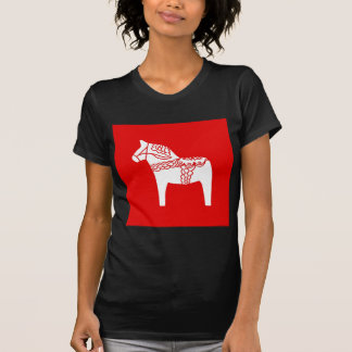 Red Dala Horse T Shirt