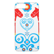 Red Dala Horses iPhone 8/7 Case