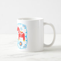 Red Dala Horses Coffee Mug