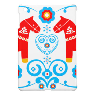 Red Dala Horses iPad Mini Cover