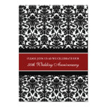 "Red Damask 50th Anniversary Party Invitation 5"" X 7"" Invitation Card"