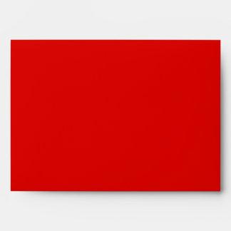 Red Damask A7 Greeting Card Envelope