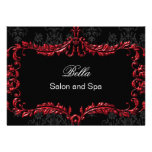 red damask Business Thank You Cards