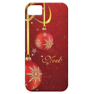 Red Damask Christmas iPhone SE/5/5s Case