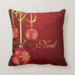 Red Damask Christmas Pillow
