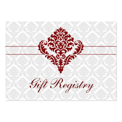 Wedding gift registry cards business card templates for Gift cards for wedding registry