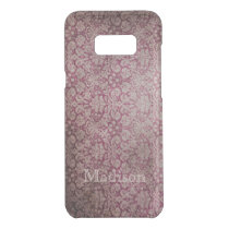 Red Damask Grunge Floral And Name Uncommon Samsung Galaxy S8  Case