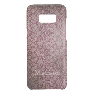 Red Damask Grunge Floral And Name Uncommon Samsung Galaxy S8+ Case