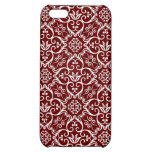 Red Damask iPhone Cases iPhone 5C Cover