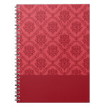 Red Damask Notebook