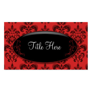 Red Damask Opal Business Card