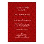 "Red Damask Pattern 5"" X 7"" Invitation Card"