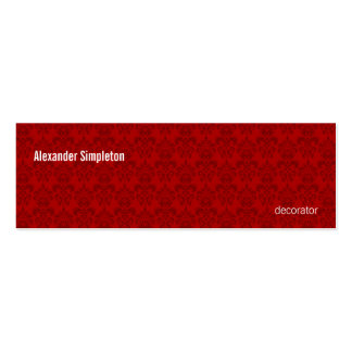 Red Damask Pattern Business Cards