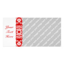 Red Damask Pattern   Custom Color Card