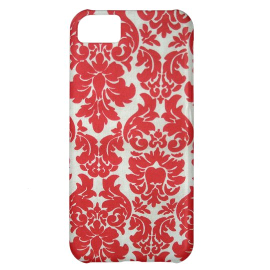 Red Damask Pattern for I Phone iPhone 5C Case
