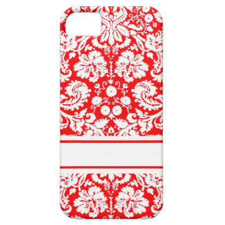 Red Damask Pattern iPhone 5 Cases