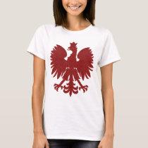 Red Damask Polish Eagle T-Shirt