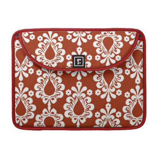 Red Damask Rickshaw Sleeve for MacBook Pro